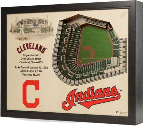 d01368477c9 You the Fan Cleveland Indians 25-Layer StadiumViews 3D Wall Art ...