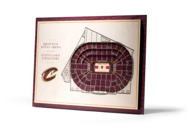 You the Fan Cleveland Cavaliers 5-Layer StadiumViews 3D Wall Art product image