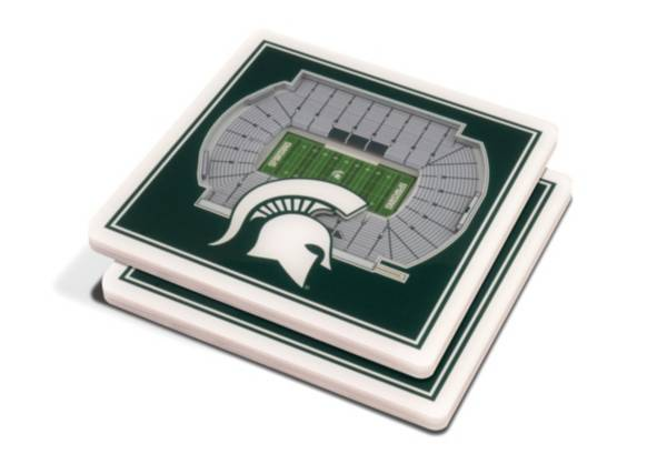 You the Fan Michigan State Spartans 3D Stadium Views Coaster Set product image