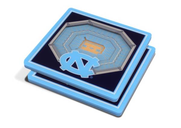 You the Fan North Carolina Tar Heels 3D Stadium Views Coaster Set product image