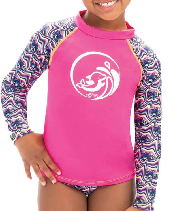 Dolfin Little Toddler's Mock Neck Long Sleeve Rash Guard product image