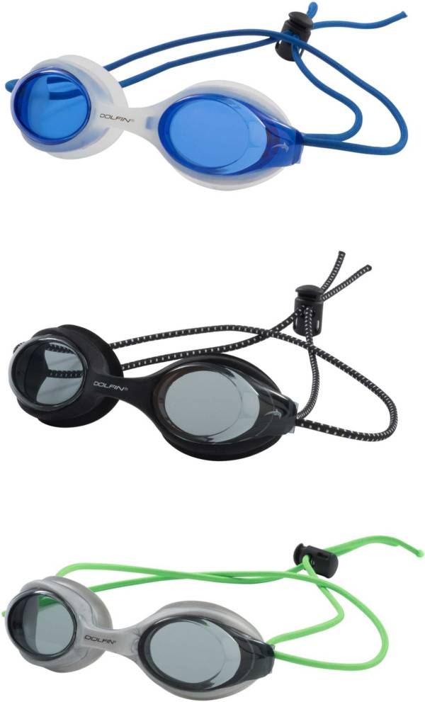 Dolfin Bungee Racer Swim Goggles – 3 Pack product image