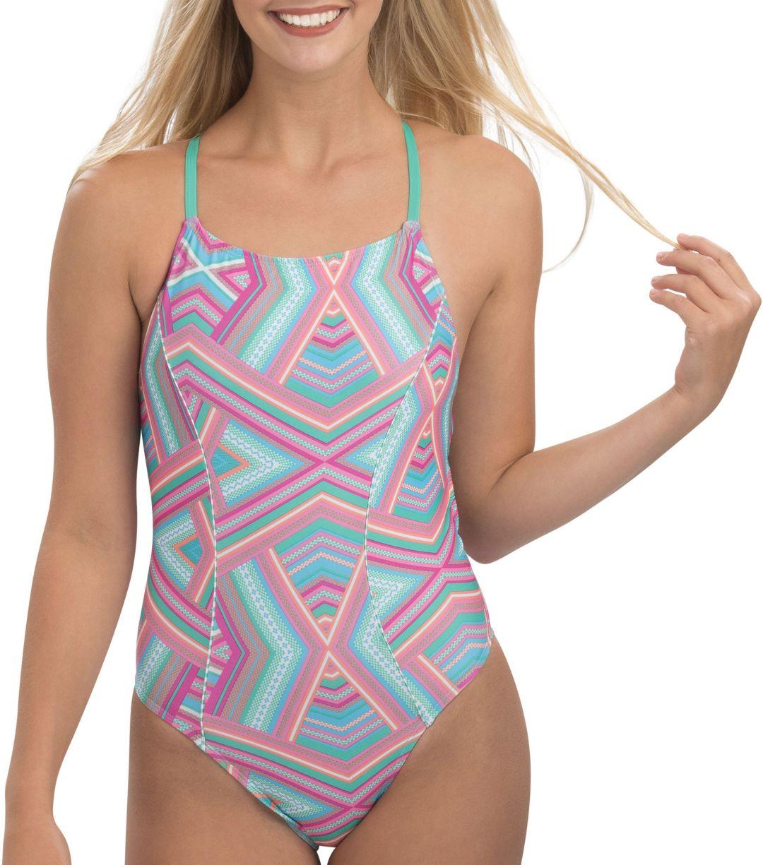 66c5021d824 Dolfin Women's Uglies Revibe Print Diamondback One Piece Swimsuit.  noImageFound. Previous. 1