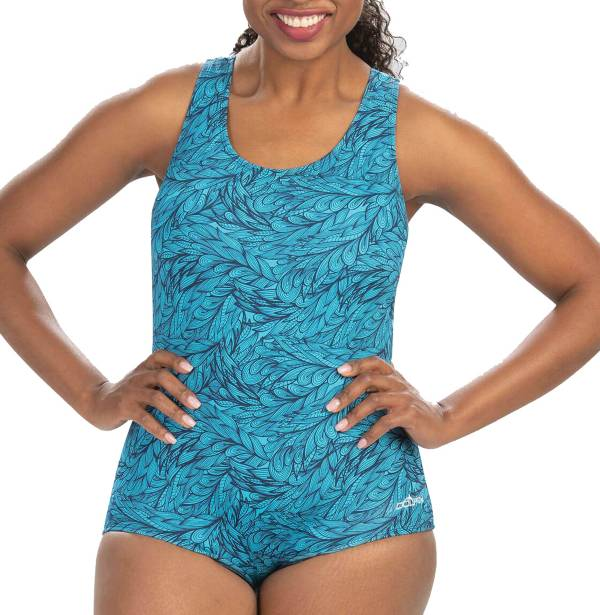 Dolfin Women's Print Conservative Lap Racerback One Piece Swimsuit product image