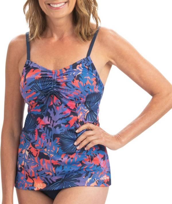 Dolfin Women's Aquashape Print Tie Front Tankini Top product image
