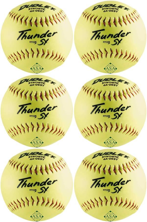 "Dudley 12"" ASA Thunder SY Slow Pitch Softballs - 6 Pack product image"