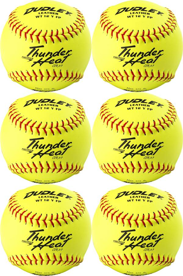"Dudley 12"" NFHS/ASA Thunder Heat Fastpitch Softballs - 6 Pack product image"