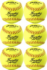 Dudley ASA Thunder Heat Fast Pitch Leather 12-Inch Soft Ball Pack of 12