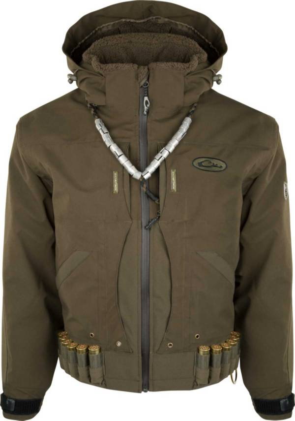 Drake Waterfowl Men's Guardian Elite Flooded Timber Shell Weight Hunting Jacket product image