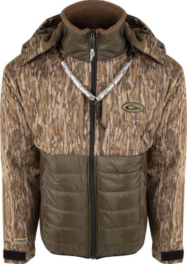 Drake Waterfowl Men's Guardian Flex Double Down Eqwader Hooded Full Zip Hunting Jacket product image