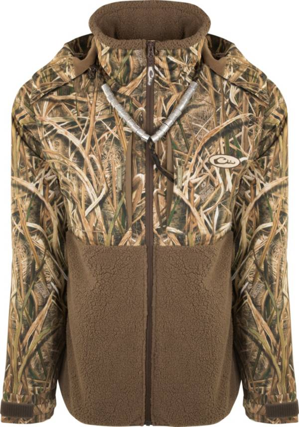 Drake Waterfowl Men's Guardian Flex Sherpa Fleece Eqwader Full Zip Hooded Hunting Jacket product image