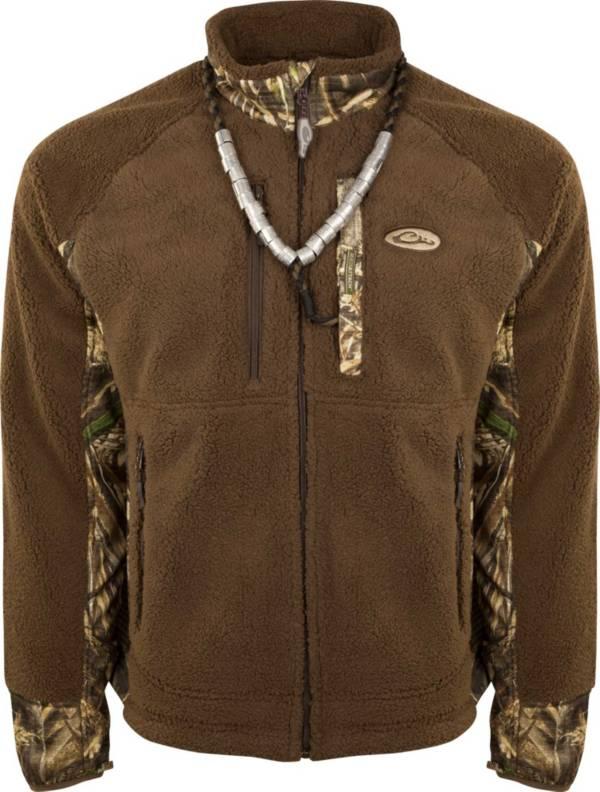 Drake Waterfowl Men's Sherpa Fleece Hybrid Liner Full Zip Hunting Jacket product image