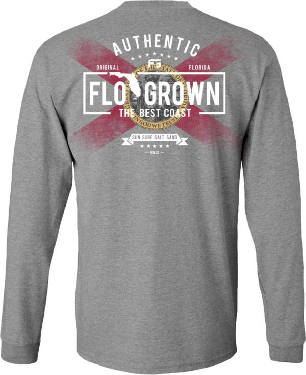 Flogrown Men's Flag Fade Out Long Sleeve T-Shirt product image
