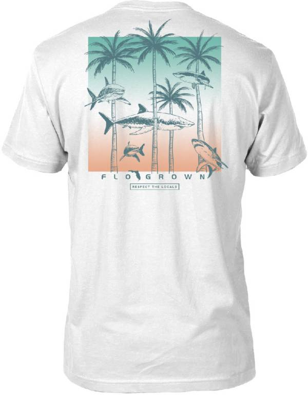 FloGrown Men's Swimming Sharks T-Shirt product image