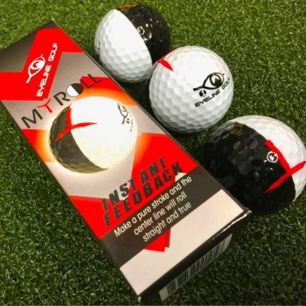 Eyeline Golf MyRoll 2-Color Golf Ball product image