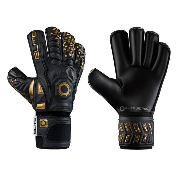 Elite Adult Black Real Soccer Goalkeeper Gloves product image