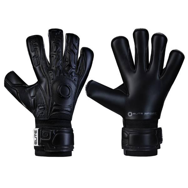 Elite Adult Black Solo Soccer Goalkeeper Gloves product image