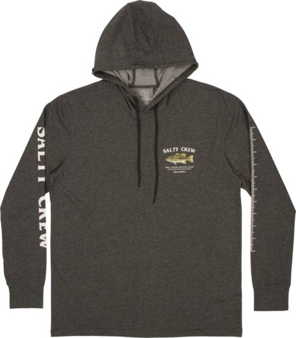 Salty Crew Men's Green Bass Hooded Long Sleeve T-Shirt product image