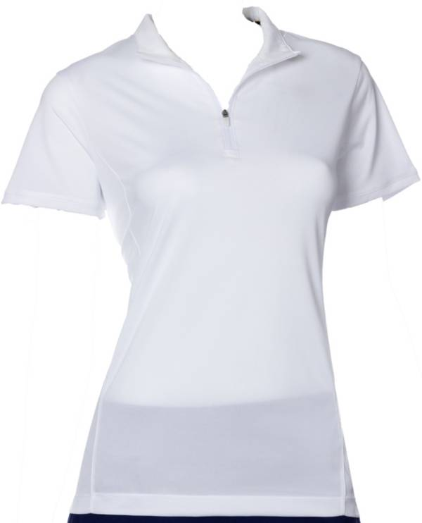 EP Pro Women's Short Sleeve Convertible Zip Collar Golf Polo product image