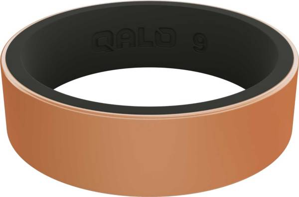 QALO Women's Strata Metallic Rose Gold Silicone Ring product image