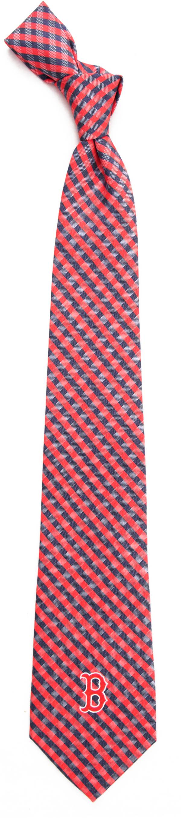 Eagles Wings Boston Red Sox Gingham Necktie product image