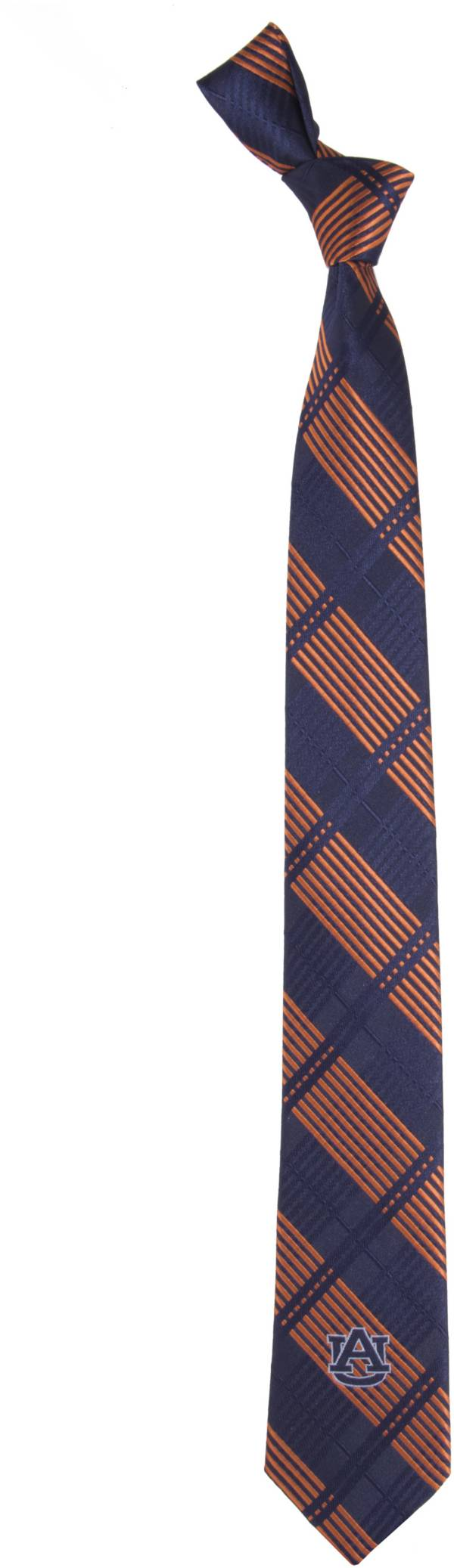 Eagles Wings Auburn Tigers Skinny Plaid Necktie product image