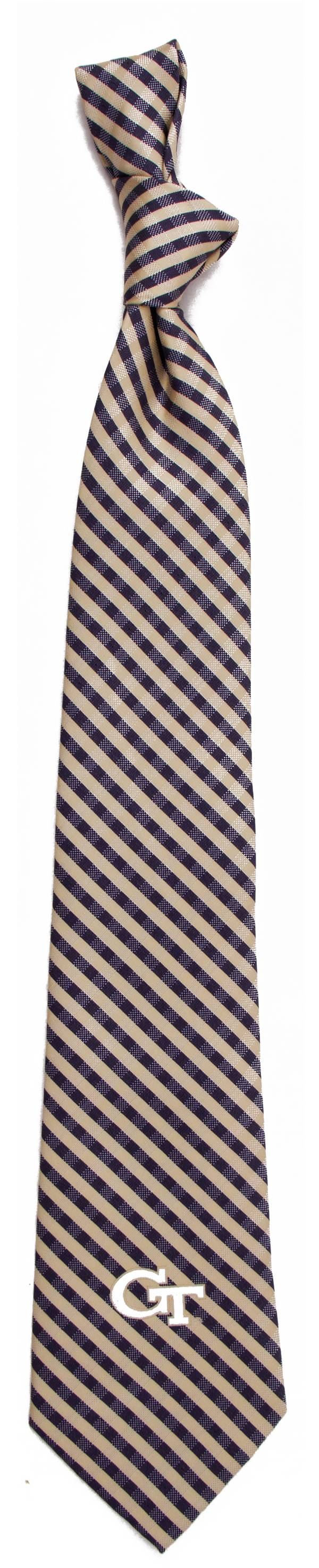 Eagles Wings Georgia Tech Yellow Jackets Gingham Necktie product image
