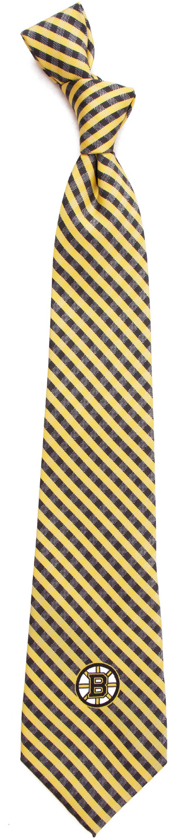 Eagles Wings Boston Bruins Gingham Necktie product image