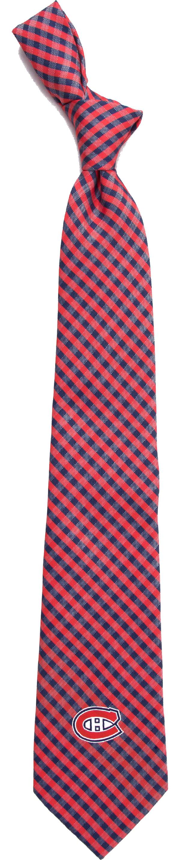 Eagles Wings Montreal Canadiens Gingham Necktie product image