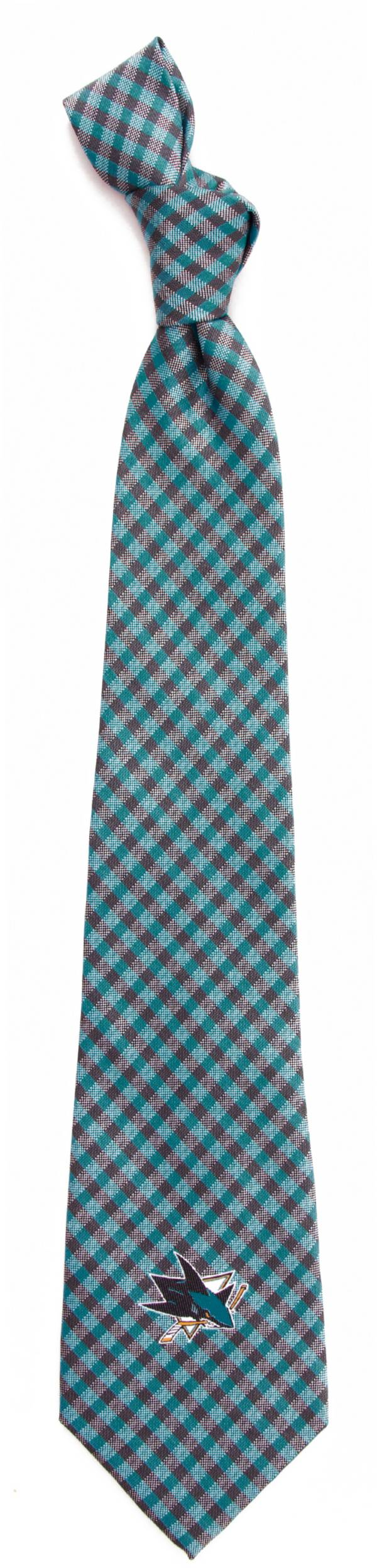 Eagles Wings San Jose Sharks Gingham Necktie product image