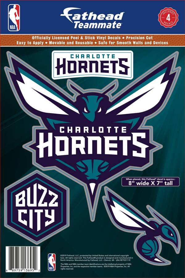 Fathead Charlotte Hornets Logo Wall Decal product image