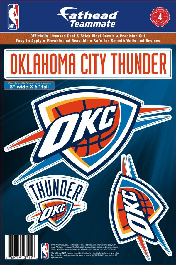 Fathead Oklahoma City Thunder Logo Wall Decal product image