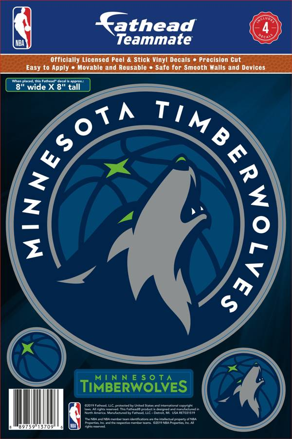 Fathead Minnesota Timberwolves Logo Wall Decal product image