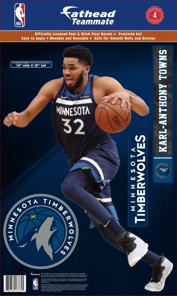 Fathead Minnesota Timberwolves Karl-Anthony Towns Teammate Wall Decal product image