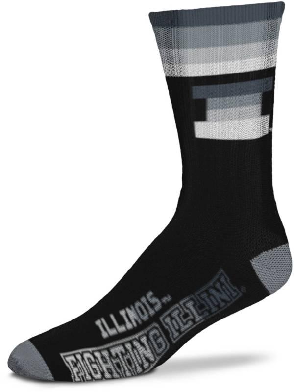 For Bare Feet Illinois Fighting Illini Platinum Crew Socks product image