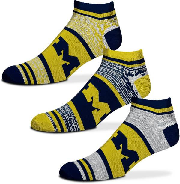 For Bare Feet Michigan Wolverines 3 Pack Socks product image