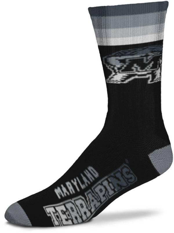 For Bare Feet Maryland Terrapins Platinum Crew Socks product image
