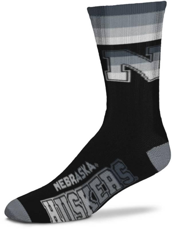 For Bare Feet Nebraska Cornhuskers Platinum Crew Socks product image