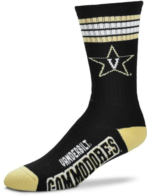For Bare Feet Vanderbilt Commodores 4-Stripe Deuce Crew Socks product image