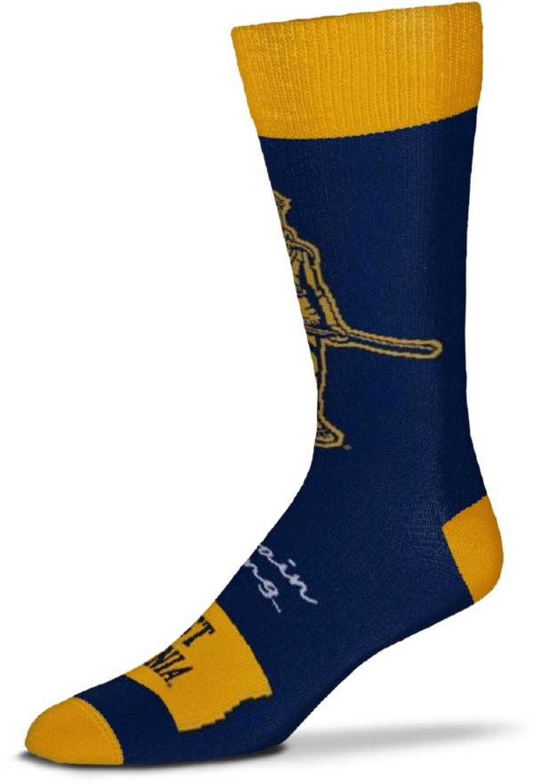 For Bare Feet West Virginia Mountaineers Thin Crew Socks product image