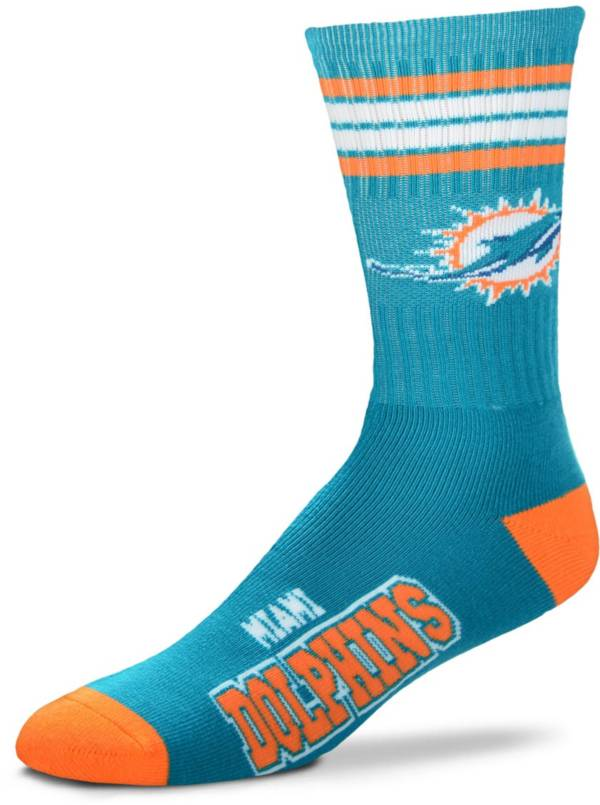 For Bare Feet Miami Dolphins 4-Stripe Deuce Socks product image