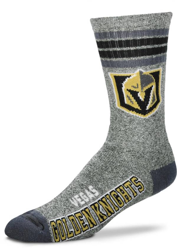For Bare Feet Vegas Golden Knights Marbled Four Stripe Deuce Socks product image