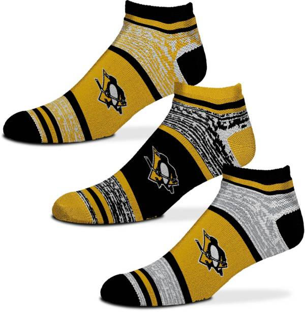 For Bare Feet Pittsburgh Penguins 3 Pack Socks product image