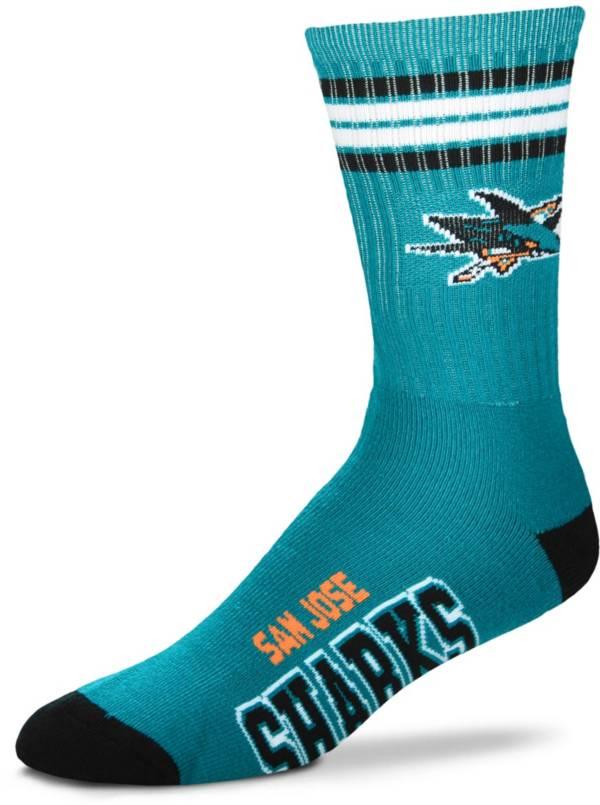 For Bare Feet San Jose Sharks Four Stripe Deuce Socks product image