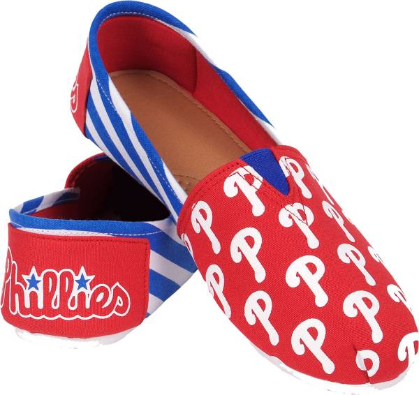 FOCO Philadelphia Phillies Striped Canvas Shoes product image