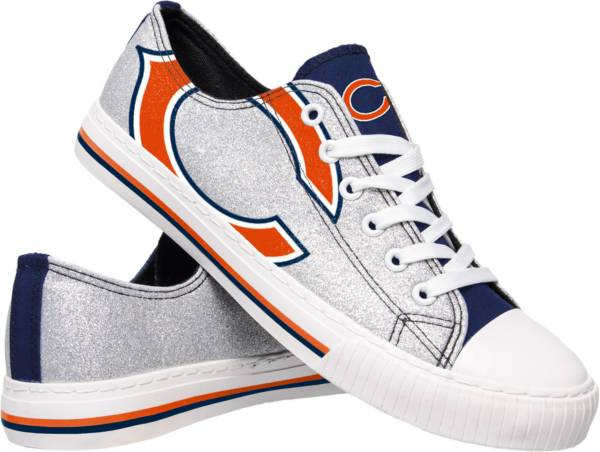 FOCO Chicago Bears Women's Glitter Canvas Shoes product image