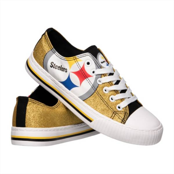 FOCO Pittsburgh Steelers Women's Glitter Canvas Shoes product image