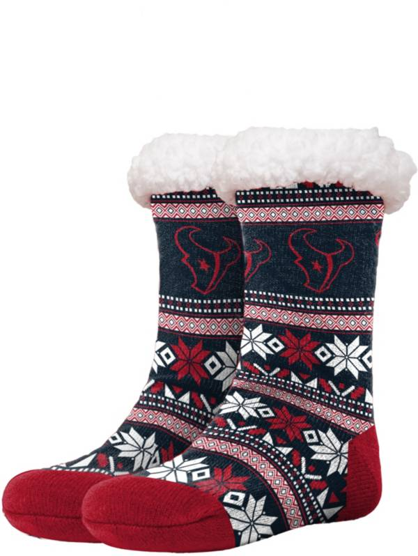 FOCO Houston Texans Footy Slippers product image