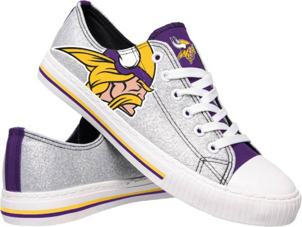 FOCO Minnesota Vikings Women's Glitter Canvas Shoes product image