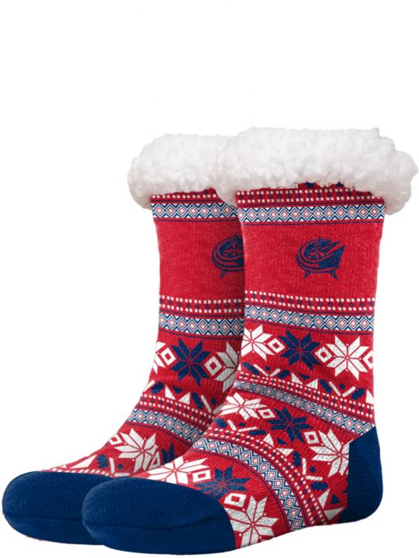 FOCO Columbus Bluejackets Footy Slippers product image